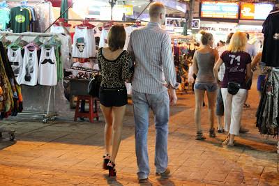 Patpong Viertel von Bangkok Thailand