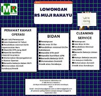 Lowongan Kerja di Rumah Sakit Muji Rahayu Surabaya September 2021