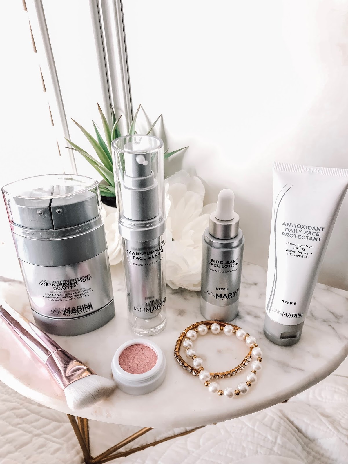 Jan Marini Age Intervention Duality. A dual-action treatment for anti-aging and acne concerns. Affordable by Amanda is a beauty blogger in Tampa Bay, Florida. She is sharing how to fight acne in your 20s with 3 products.