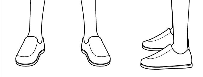 Gambar detail sepatu anak anime