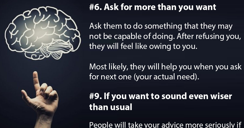 20 Impressive Psychological Tricks That Can Influence
