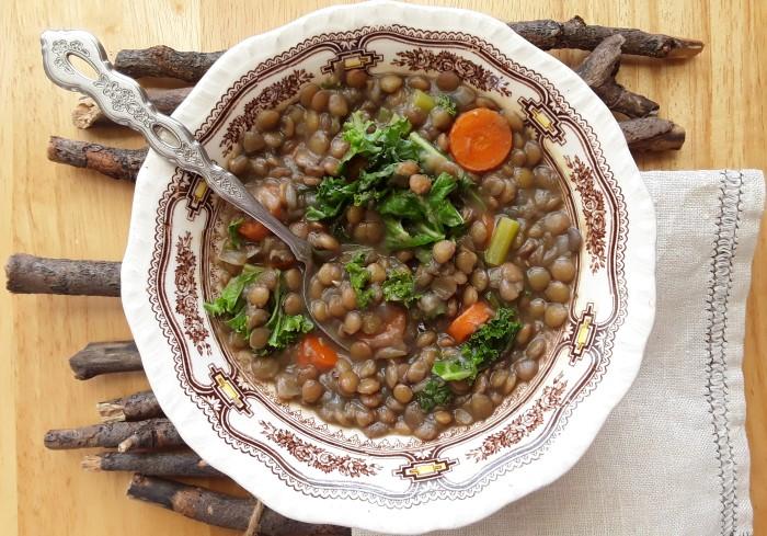 #lentejas #sopa #receta #kale #zanahoria #corizada #labrandounhogar