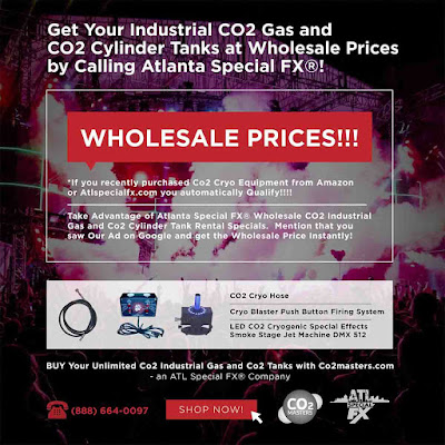 www.atlspecialfx.com  ATL Special FX® Can supply unlimited amounts of CO2 Industrial Gas anywhere in the USA and Co2 Tanks