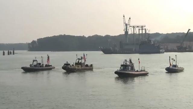 Image Attribute: U.S. Navy Swarm Boats Formation / Youtube Screengrab