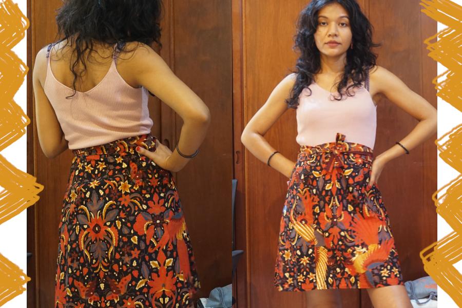 I love batik when I wear it casually like this.