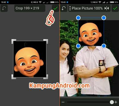 Edit Foto Muka Upin Ipin