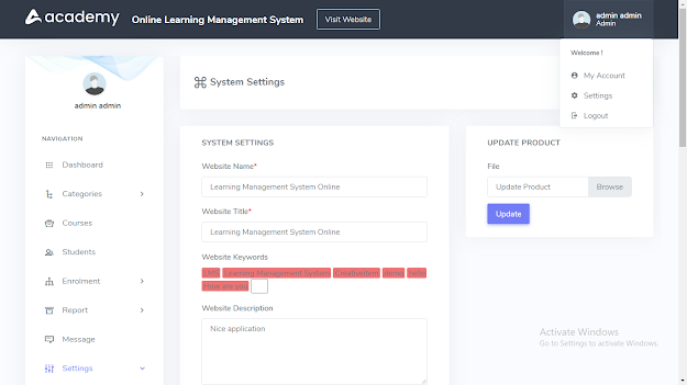 online learning management system free download