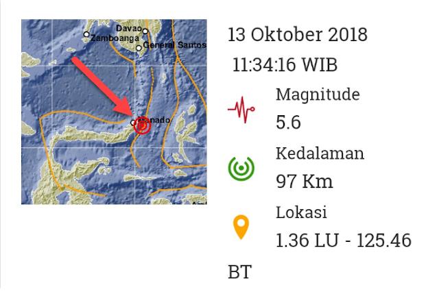 Gempa Bitung Sulawesi Utara Warnai Duka Oktober 2018