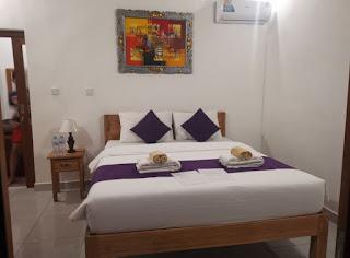 La habitación del Buda Cottage Ubud, Bali.