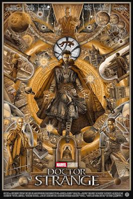 Doctor Strange Movie Poster Screen Print by Ise Ananphada x Grey Matter Art x Bottleneck Gallery