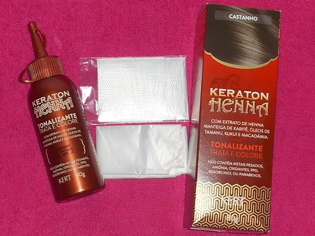 298cbd36e Falei aqui que recebi alguns produtos da parceira Kert e um deles foi o  Keraton Henna. Testei no cabelo da minha mãe e hoje venho mostrar o  resultado.
