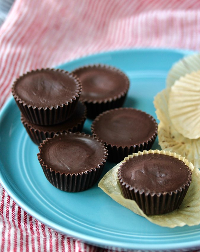 Chocolate Pecan Butter Cups with wrappers