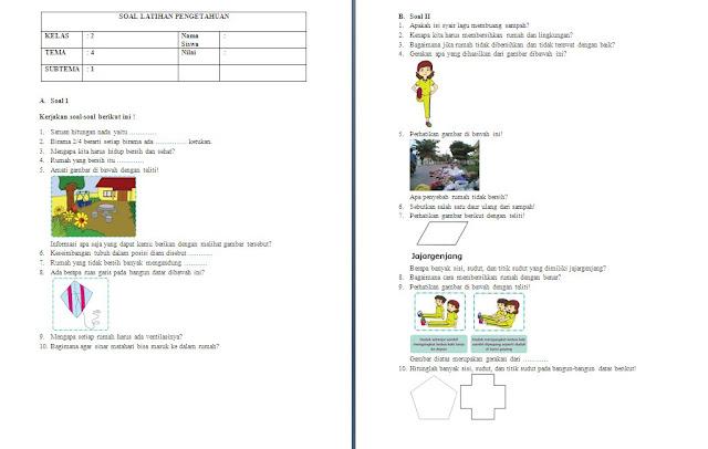 Soal PH Kelas 2 SD/MI: Tema 4