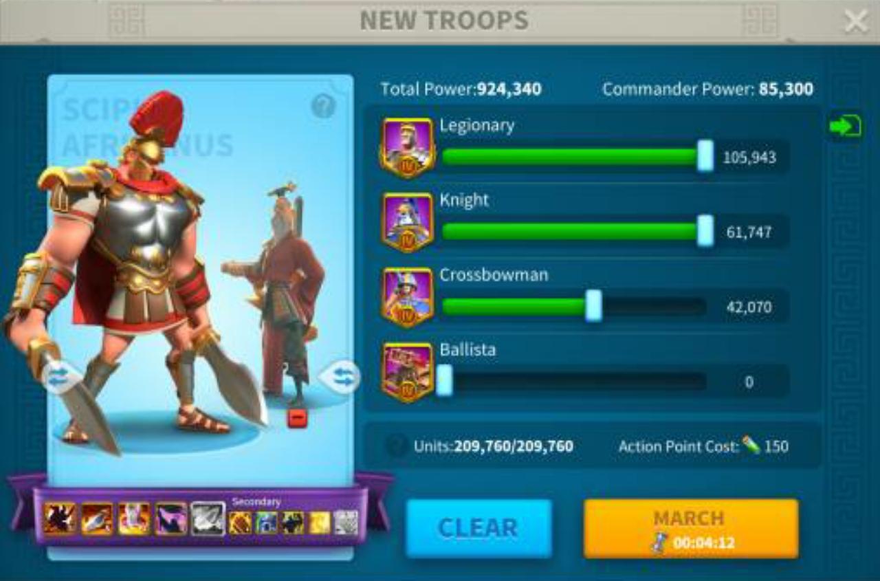 Memilih komandan untuk menyerang Barbarian forts