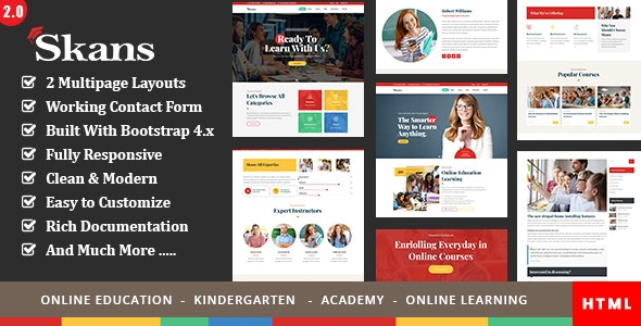 Skans - Education Course Responsive Template