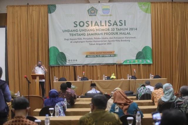 Pemkot Bandung dan Kemenag Sosialisasikan Jaminan Produk Halal