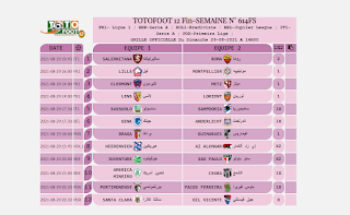 PRONOSTIC TOTOFOOT 12 Fin-SEMAINE N° 614FS