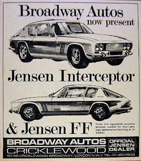 Broadway Autos Cricklwood advert 1969