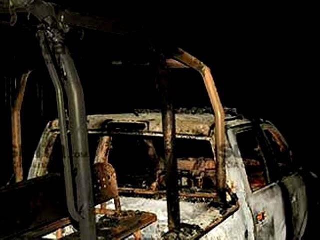 Pobladores intentan lincharmiento y queman patrulla