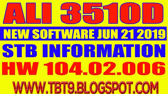 ALI3510D HARDWARE 104.02.006 POWERVU TEN SPORTS OK NEW SOFTWARE