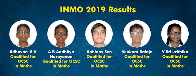 Olympiads Stage 1 Results 2018-19