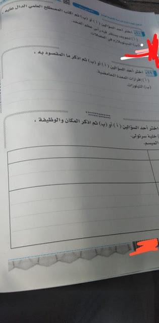 امتحان الأحياء للثانوية العامة 2019 10