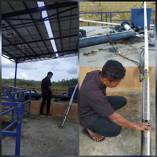 Dua Unit Pompa pembantu Air PDAM  rusak,Air PDAM Agak macet di Kecamatan Selayar