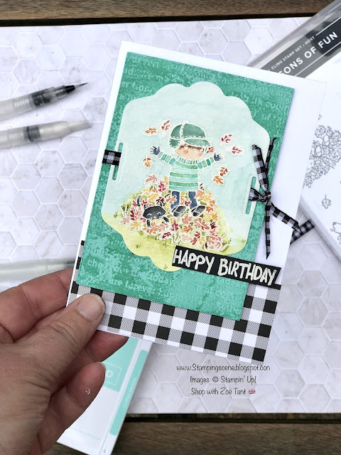 watercoloring tips technique blog hop stampin up seasons of joy stamp set