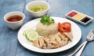 Nasi ayam singapura (Hainanese Chicken Rice)