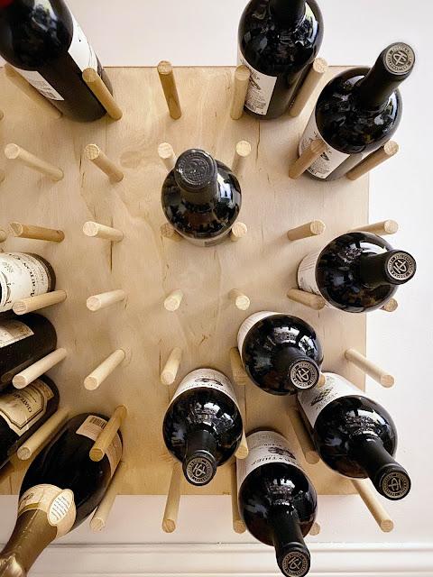 wine bottle storage rack wall peg