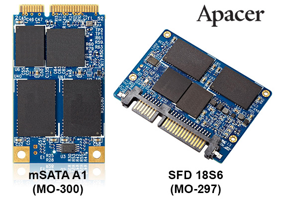 Apacer SFD 18S6 and mSATA A1 SSD