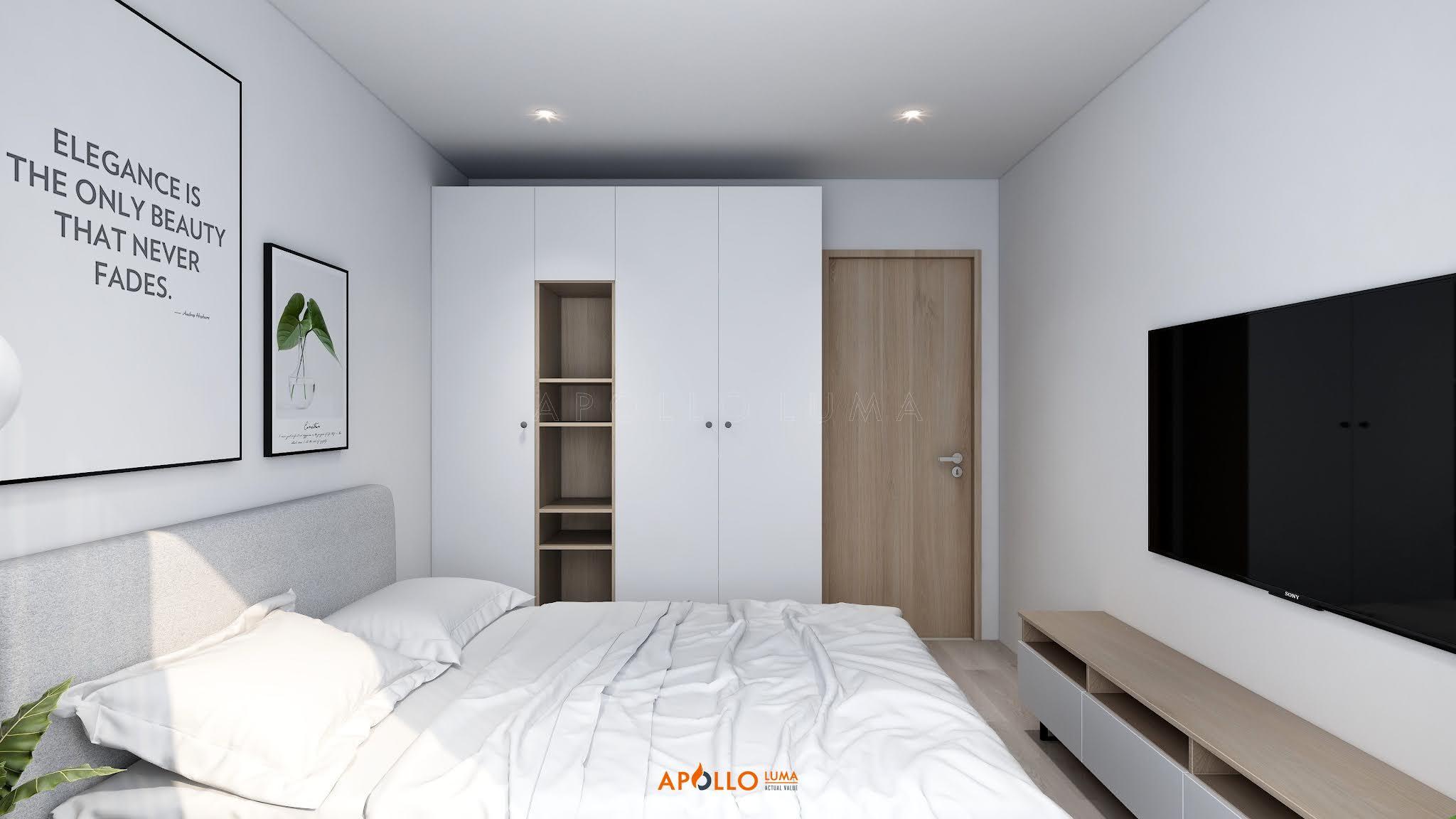 Thiết kế nội thất căn 2PN+1 (55m2) S2.16-11 Vinhomes Ocean Park phong cách hiện đại