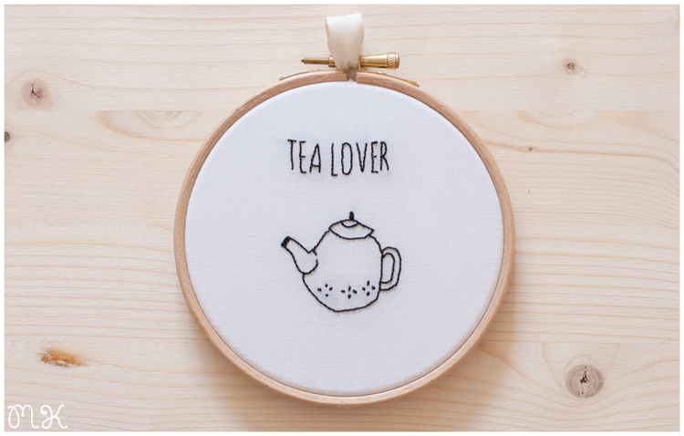 Bastidor decorativo Tea lover
