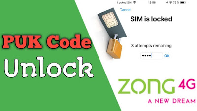Zong puk code Unlock your Zong Sim
