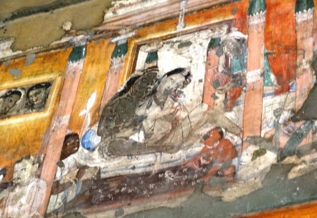 Ajanta cave 17 painting 3 - porch rear wall - Udayin Narrative