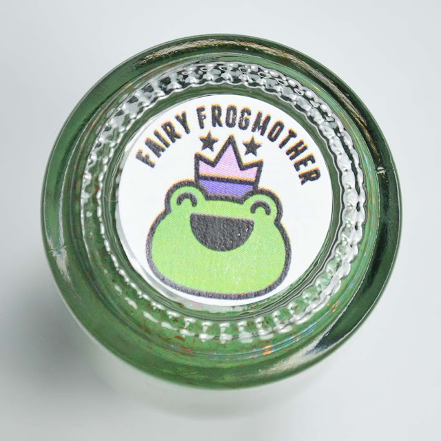 frog label on bottom of nail polish bottle