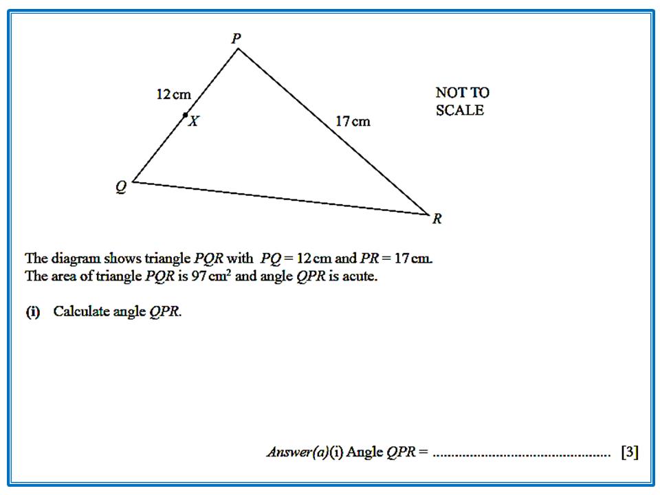 Area of a Triangle using Trigonometry   IGCSE at Mathematics