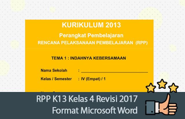 RPP K13 Kelas 4 Revisi 2017