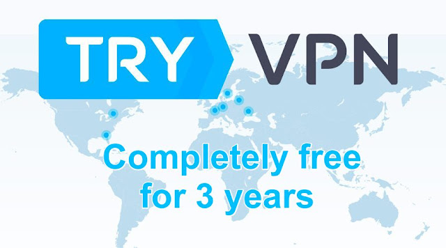 [GIVEAWAY] Get TryVPN completely free for 3 years [Without Credit Card]