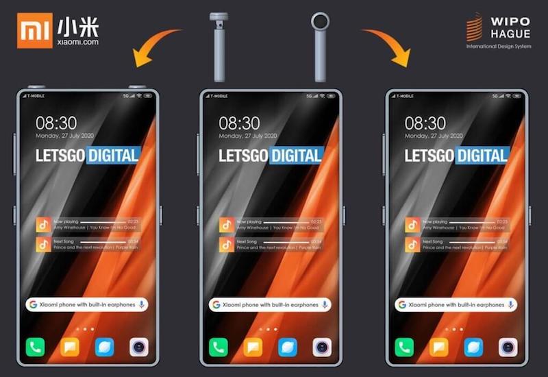 Xiaomi patents a smartphone design with built-in wireless earphones