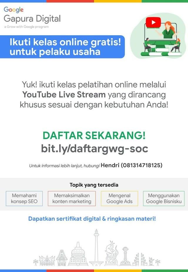 Google Gapura Digital Ingin mengajak Dalam Acara Webinar Gratis Dari Google Indonesia