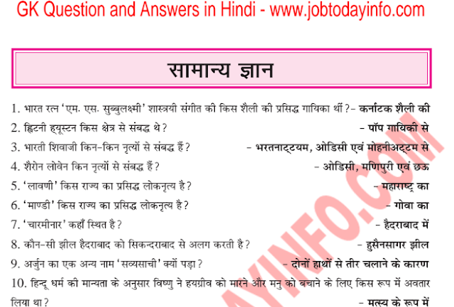 GK All in One Questions and Answers in Hindi PDF Download