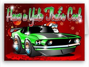 Art And Technology Have A Yule That S Cool Hot Rod Xmas Cards