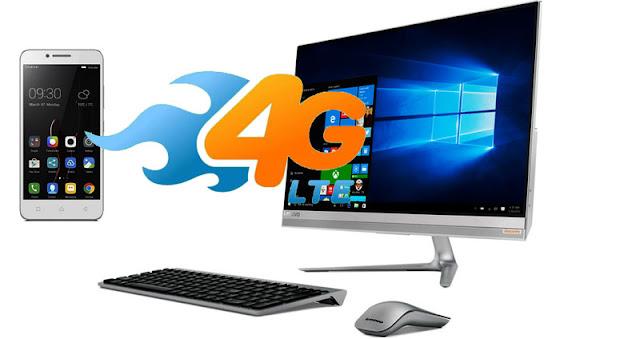 10 Langkah mengubah Lenovo 4G Vibe C Menjadi Modem PC