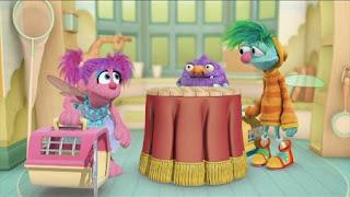 Abby's Flying Fairy School Pet Day, Abby Cadabby, Blögg, Gonnigan. Sesame Street Episode 4322 Rocco's Playdate season 43