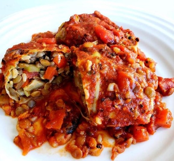 Vegan Cabbage Rolls with Lentils & Brown Rice #veganrecipe #lunches