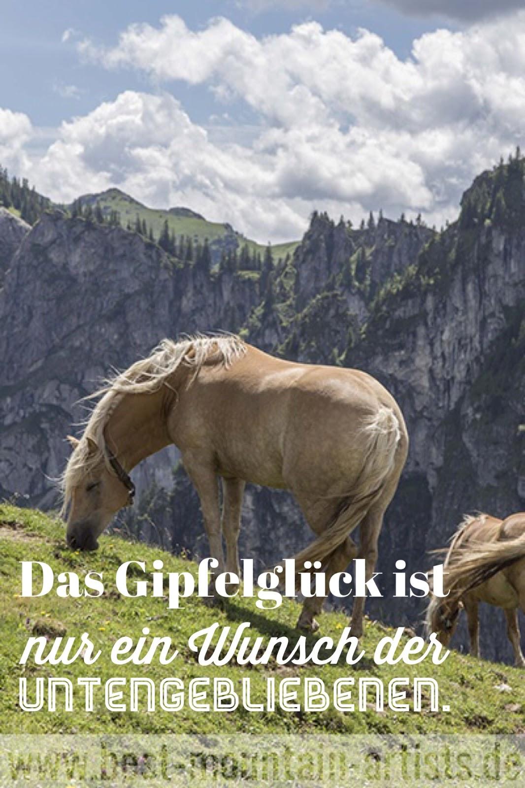 """""""Das Gipfelglück ist nur ein Wunsch der Untengebliebenen."""", Reinhold Messner"""