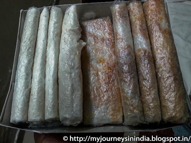 Putharekulu or Pootharekulu Rice Foil Sweet Andhra
