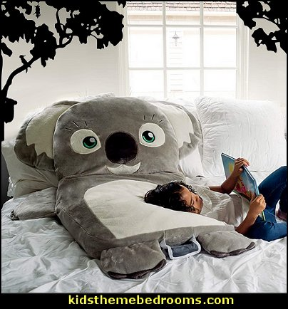Koala Character Floor or Bed Cushion koala floor pillow koala pillow koala decor koala bedroom ideas