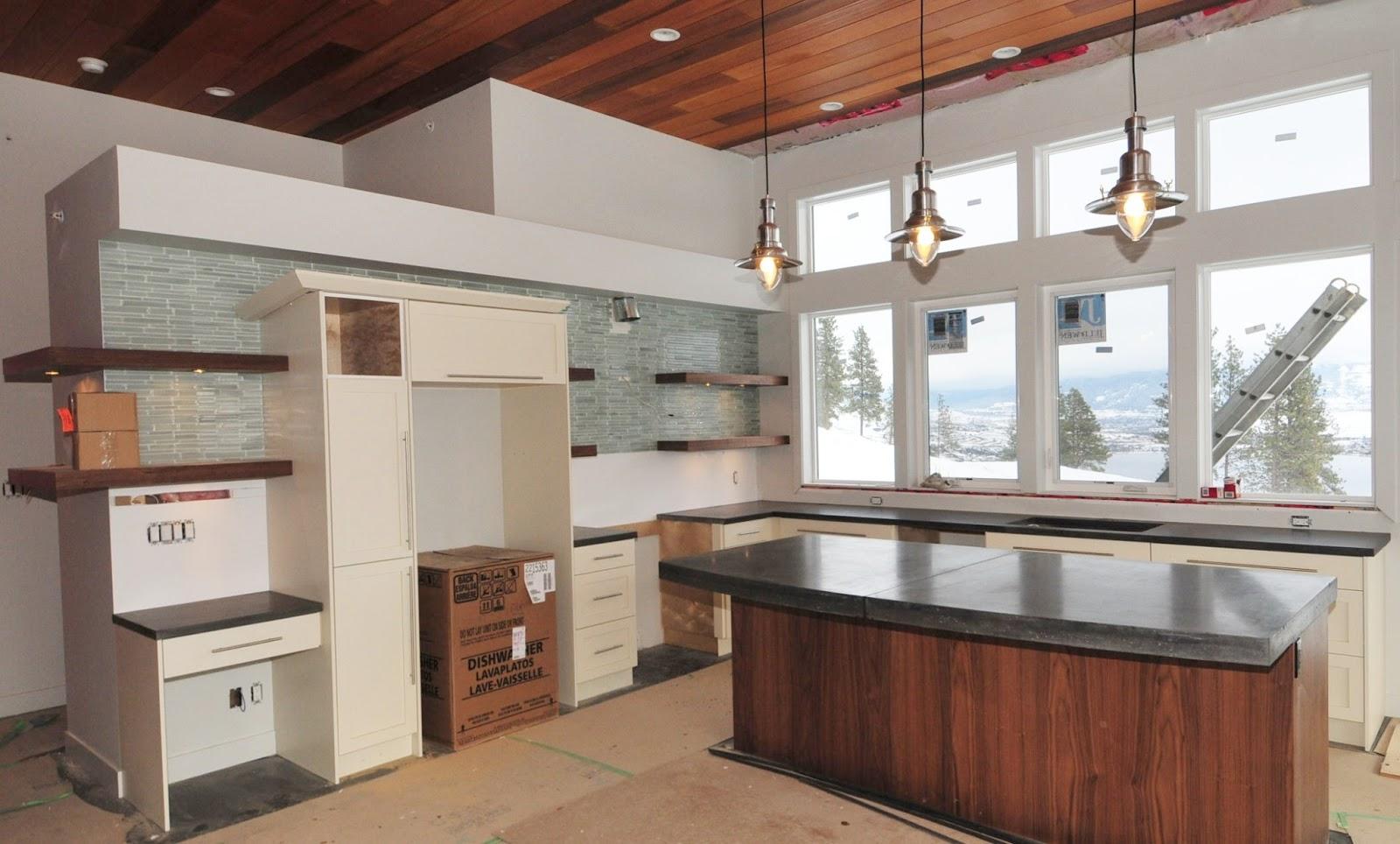 contemporary concrete kitchen modern kitchen countertops MODE CONCRETE Modern Kitchen with Concrete Countertops made in the Okanagan by MODE CONCRETE